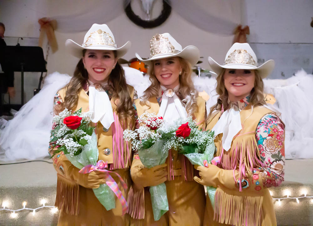 From left to right: Princess Katelynn Diggins, Queen Rylee Wilcox, Princess Bethany Anderson