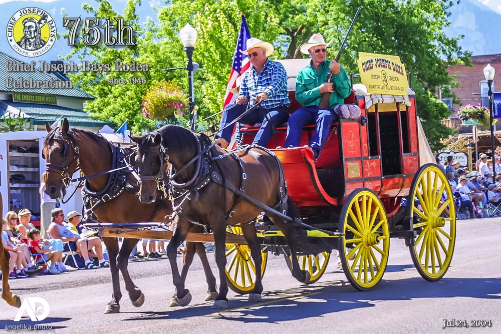 Celebrating 75 Years of Chief Joseph Days in 2020 with CJD's Stage Coach from 2004
