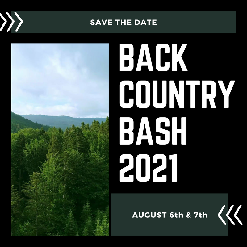 2021 BACK COUNTRY BASH Lineup is out and Ticket Sales are HOT!!!